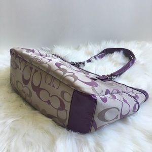Coach Bags - Coach Signature purple lavender satchel tote